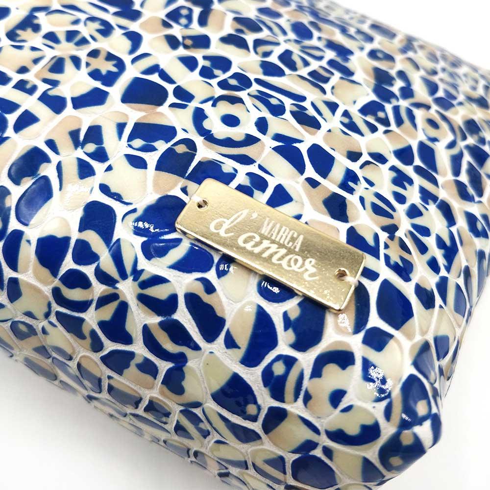 Nécessaire Marca d'amor Azulejo Azul
